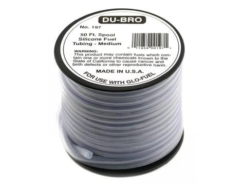 DuBro Medium Silicone Fuel Tubing (Blue) (50')