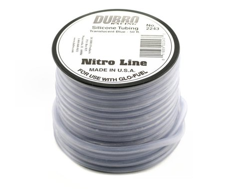 "DuBro ""Nitro Line"" Silicone Fuel Tubing (Blue) (50')"