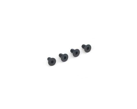 DuBro 3x6mm Flat Head Socket Screws (4)