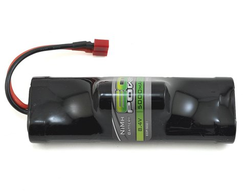 SCRATCH & DENT: EcoPower 7-Cell NiMH Hump Battery Pack w/T-Style Connector (8.4V/5000mAh)