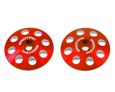 Exotek 22mm 1/8 XL Aluminum Wing Buttons (2) (Red)