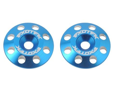 Exotek Flite V2 16mm Aluminum Wing Buttons (2) (Blue)