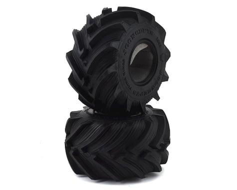 """JConcepts Fling Kings Jr 2.2"""" Monster Truck Tire (2) (Blue)"""