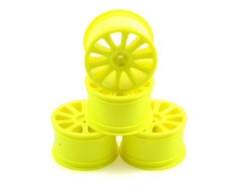 JConcepts Rulux 1/10th Rear Wheel (4) (Yellow)