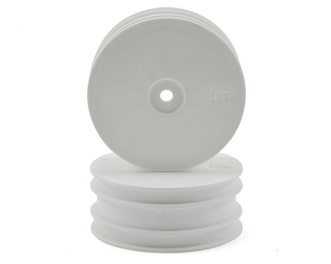 Losi Solid Front Wheels (2) (White)