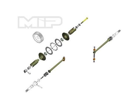 """MIP 67mm B6.1/B6.1D """"Pucks"""" 17.5 Bi-Metal Drive System"""