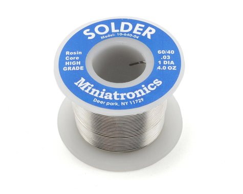 Miniatronics Rosin Core Solder 60/40 (4oz)