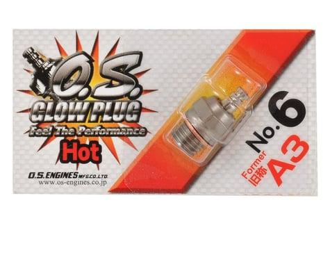 "O.S. No.6 Short Body Standard Glow Plug ""Hot"""