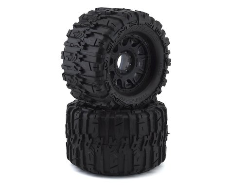 """Pro-Line Trencher HP Belted 3.8"""" Pre-Mounted Truck Tires (2) (Black) (M2)"""