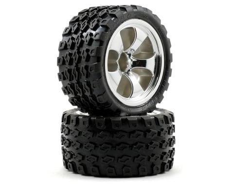 Pro-Line 30 Series M2 Dirt Hawg Truck Tire w/Torque Wheel (Chrome) (2) (Nitro Fr