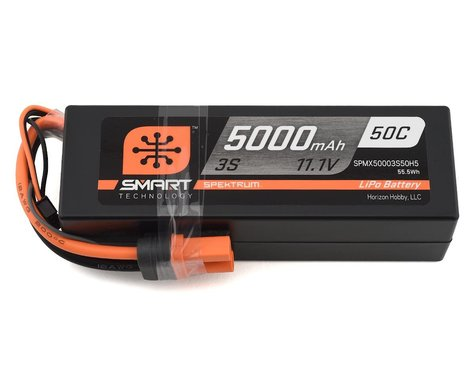 Spektrum RC 3S Smart LiPo Hard Case 50C Battery Pack w/IC5 Connector