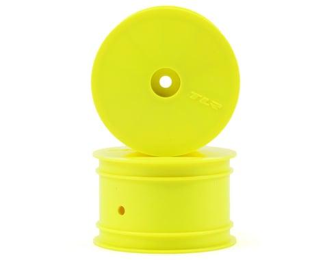 Team Losi Racing 12mm Hex 1/10 Rear Buggy Wheels (Yellow) (2) (22 3.0/22-4)