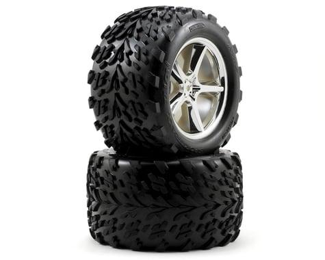 Traxxas Pre-Mounted Talon Tires w/Gemini Wheels (2) (Chrome)