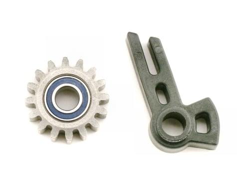 Traxxas Revo Gear, idler/ idler gear support/ bearing (pressed in)