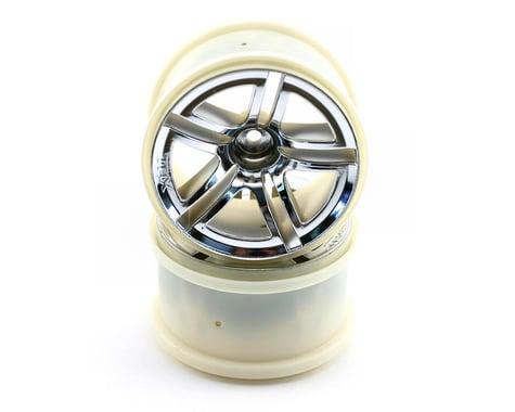Traxxas 12mm Hex Twin Spoke Rear Wheels (2) (Jato) (Chrome)