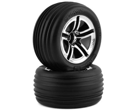 Traxxas Twin Spoke Front Wheels (2) (Jato) (Chrome)