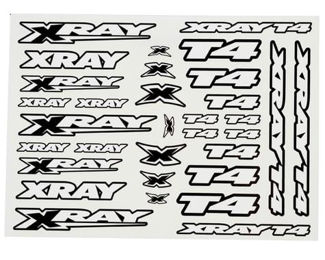 Xray T4 Sticker Decal Sheet (White)
