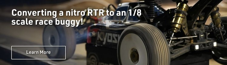 Converting a nitro RTR to an 1/8 scale race buggy!