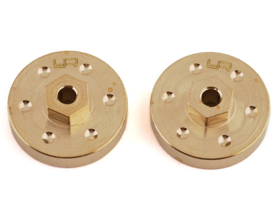 Yeah Racing SCX24 Brass Wheel Hubs (2) (15g)